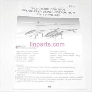 YD-611 YD-612 Spare Parts: English manual book