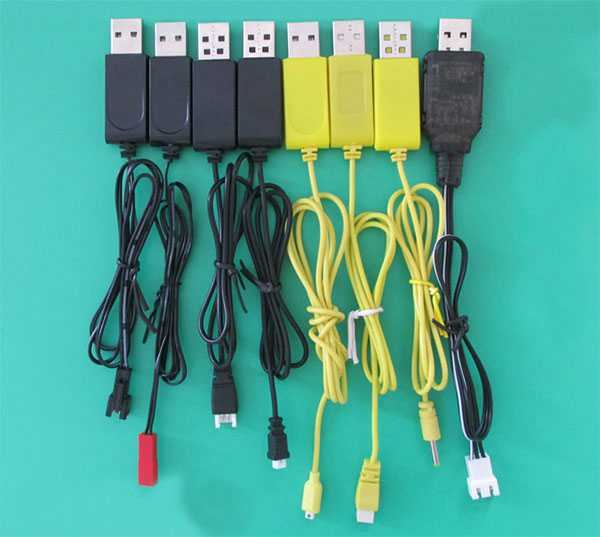 Universal remote control helicopter USB Charge line[3.7V、7.4V]