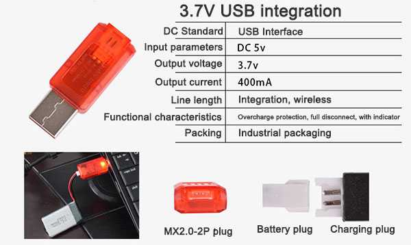 3.7V USB integration
