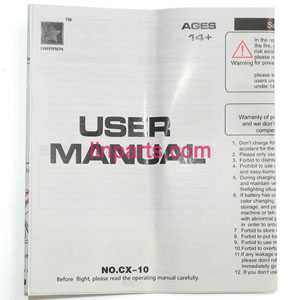 Cheerson CX-10 Mini 2.4G Spare Parts: English manual book