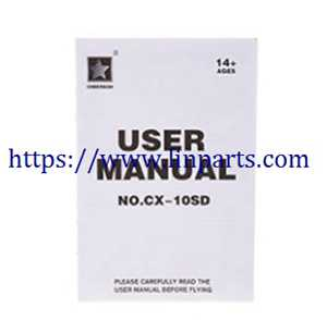 Cheerson CX-10SD RC Quadcopter Spare Parts: English manual book