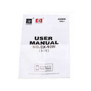 CX-10W-TX RC Quadcopter Spare Parts: English manual book