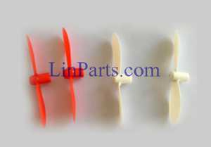 Cheerson CX-17 Cricket RC Quadcopter Spare Parts: Main blades set[White+Red]
