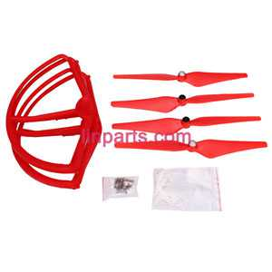 Cheerson CX-22 Follow Me 4CH 6-Axis Dual GPS Quadcopter Spare Parts: main blades set +protection set【Red】