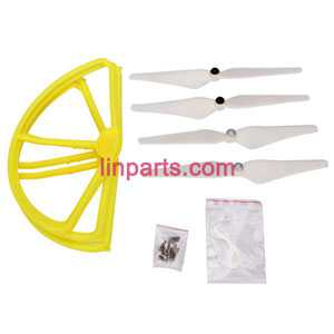 Cheerson CX-22 Follow Me 4CH 6-Axis Dual GPS Quadcopter Spare Parts: main blades set +protection set【Yellow】