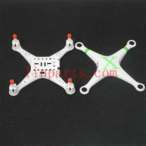Cheerson CX-30 CX-30C CX-30W CX-30W-TW CX-30S RC Quadcopter Spare Parts: Upper Head set+Lower boar[Green]