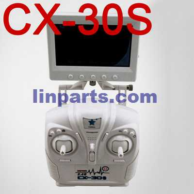 Cheerson CX-30 CX-30C CX-30W CX-30W-TW CX-30S RC Quadcopter Spare Parts: Remote Control/Transmitte + FPV monitor image transmission device[CX-30S]