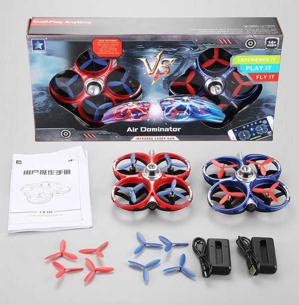 Cheerson CX-60 CX60 2.4G 4CH WiFi Infrared Fighting Drones 3D Flips RC Quadcopter