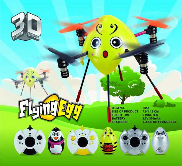 Cheerson 6057 4CH 6 Axis Gyro 2.4GHz Cute Flying Egg