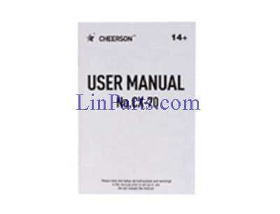 Cheerson CX-70 RC Quadcopter Spare Parts: English manual book