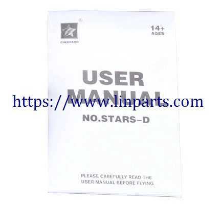 Cheerson CX-Stars-D RC Quadcopter Spare Parts: English manual book