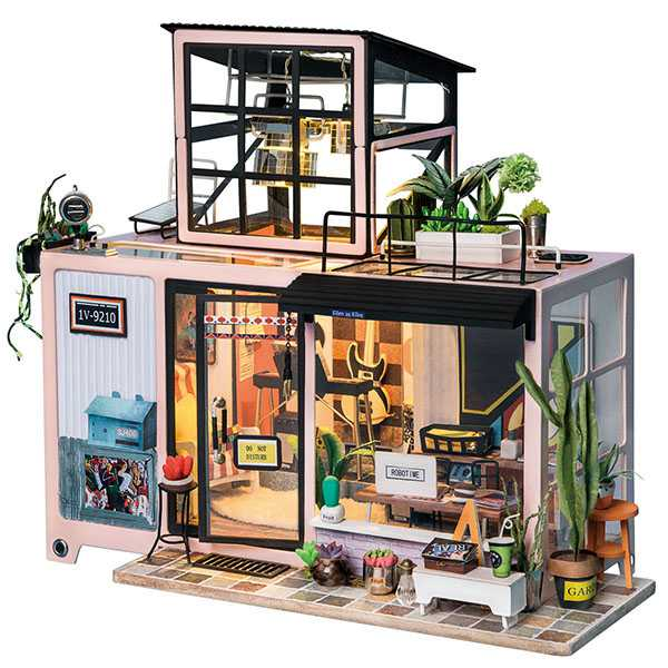 Miniature Model Fashion Studio [Kevin's Studio] Rolife Doll house Wooden Room Kit