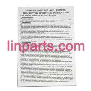 Feixuan Fei Lun RC Helicopter FX060 FX060B Spare Parts: English manual book