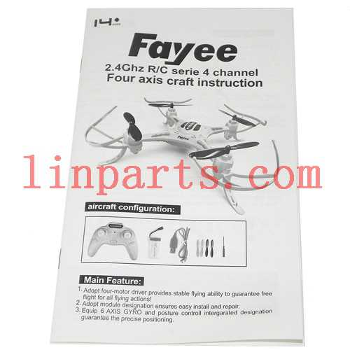 FaYee FY530 Quadcopter Spare Parts: English manual book
