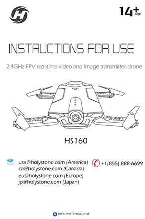 Holy Stone HS160 RC Quadcopter Spare Parts: User Manual Electronic Edition Download [English / Japanese]