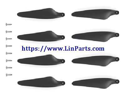 Hubsan H117S Zino RC Drone Spare Parts: Foldable Propeller Props Blades Set (with screw)