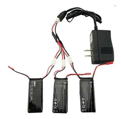 Hubsan X4 H502S RC Quadcopter Spare Parts: 1 charge 3 charger set