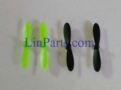 JJRC DHD D2 RC Quadcopter Spare Parts: Main blades propellers (Black/Green)