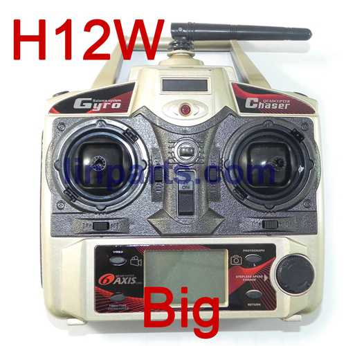 JJRC H12C H12W Headless Mode One Key Return RC Quadcopter With 3MP Camera Spare Parts: Transmitter(H12W)Big