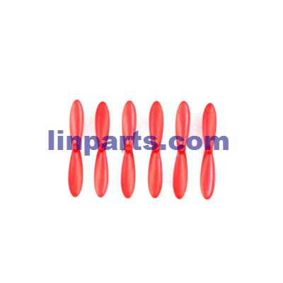JJRC H20W RC Hexacopter Spare Parts: Main blades propellers [Red](6 pcs)