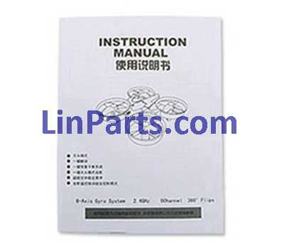 JJRC H36 RC Quadcopter Spare Parts: English manual book
