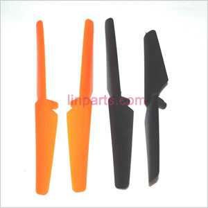 JXD 383 Spare Parts: Main blades (Black A&B + Yellow A&B)