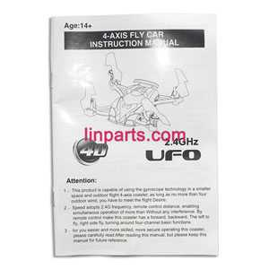 JXD 389 Helicopter Spare Parts: English manual book