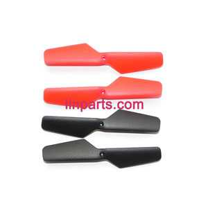 JXD 389 Helicopter Spare Parts: Main blades (Red + Black) 4pcs