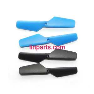 JXD 389 Helicopter Spare Parts: Main blades (Blue + Black) 4pcs