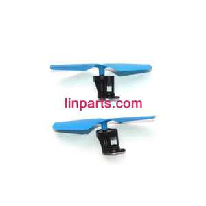 JXD 389 Helicopter Spare Parts: Main motor + Motor base + Main gear + Main blade (Positive and negative)(Blue)