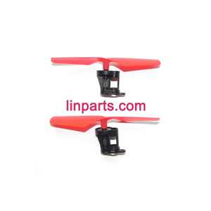JXD 389 Helicopter Spare Parts: Main motor + Motor base + Main gear + Main blade (Positive and negative)(Red)