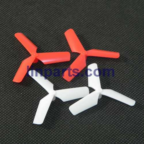 JXD JD 398 2.4G 4CH RC Quadcopter With Round Strobe light Spare Parts: Main blades(Red-White)