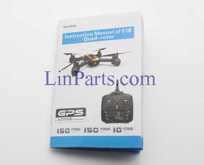 JXD 518 RC Quadcopter Spare Parts: English manual book