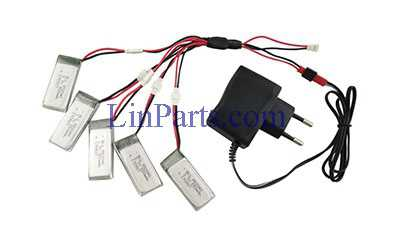 JXD 523 523W RC Quadcopter Spare Parts: Charger set + 5pcs Battery