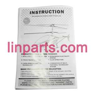 LISHITOYS RC Helicopter L6023 Spare Parts: English manual book