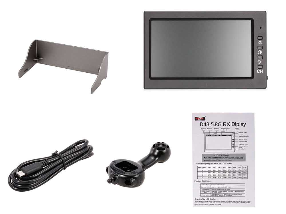 D43 Receiver Monitor 4.3 inch Display for MJX