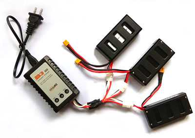 MJX Bugs 6 Brushless Drone Spare Parts: Charger + 1 charge 3 charging line+3pcs Charge transfer box[Without battery]
