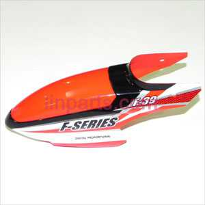 MJX F39 Spare Parts: Head cover\Canopy(red)