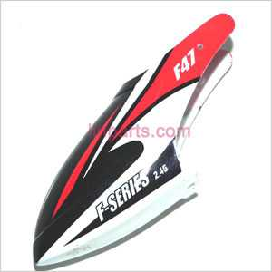 MJX F647 F47 Spare Parts: Head cover\Canopy(red)