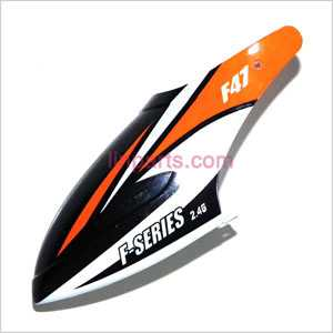 MJX F647 F47 Spare Parts: Head cover\Canopy(Orange)