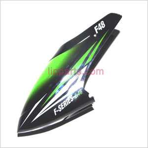 MJX F648 F48 Spare Parts: Head cover\Canopy(Black/Green)