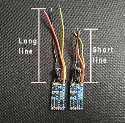 MJX BUGS 5 W 4K Brushless Drone Spare Parts: Brushless ESC 1pcs [Long line]