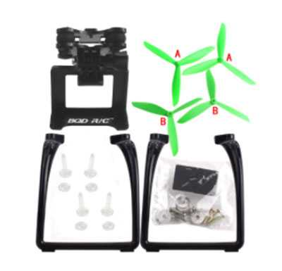 MJX Bugs 3 RC Quadcopter Spare Parts: Upgraded version Upgrade portable stand + triangular Blades set + PTZ(Green + Black)