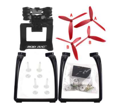 MJX Bugs 3 RC Quadcopter Spare Parts: Upgraded version Upgrade portable stand + triangular Blades set + PTZ(Red + Black)