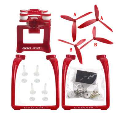 MJX Bugs 3 RC Quadcopter Spare Parts: Upgraded version Upgrade portable stand + triangular Blades set + PTZ(Red)