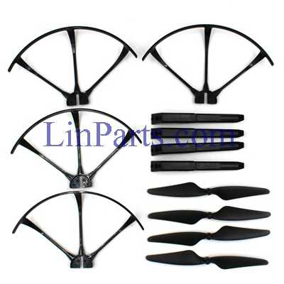 MJX Bugs 3 RC Quadcopter Spare Parts: Outside Frame + Blades Game + Plastic Support Bar