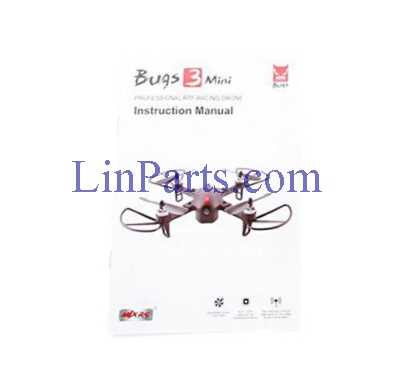 MJX BUGS 3 MINI Brushless drone Spare Parts: English manual