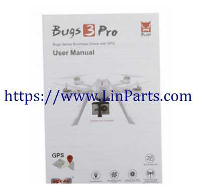 MJX BUGS 3 Pro Brushless Drone Spare Parts: English manual