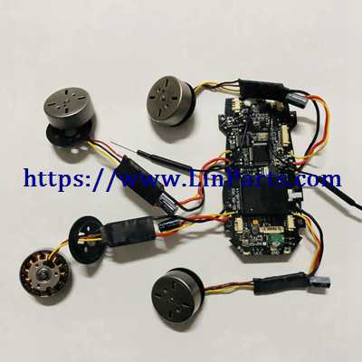MJX BUGS 5 W 4K Brushless Drone Spare Parts: Receiver Receive board + Brushless ESC 1set [4pcs] + Motor set