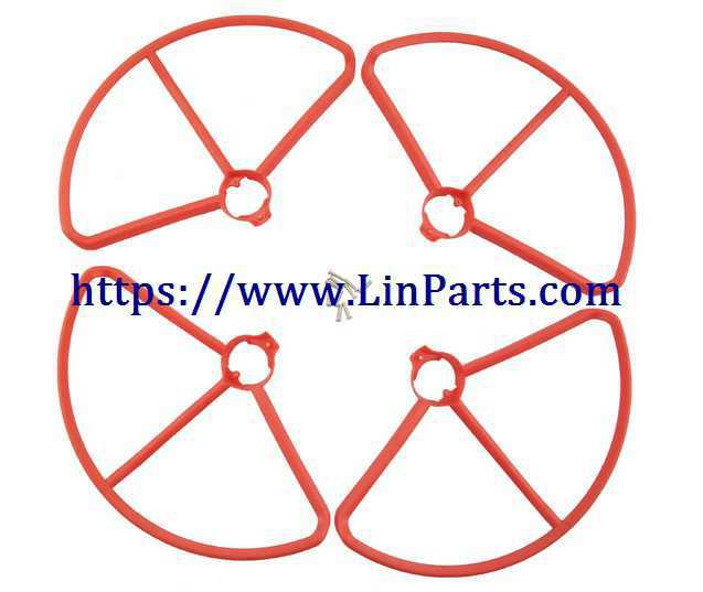MJX BUGS 2 SE Brushless Drone Spare Parts: Outer frame[Red]